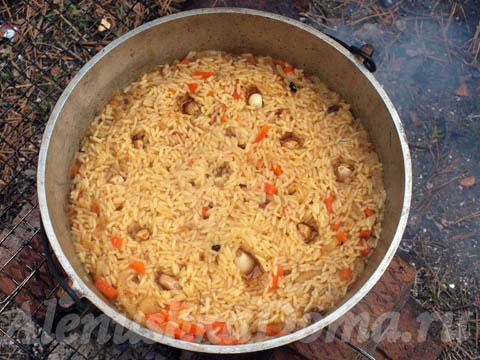 Вкуснейший плов на костре – кулинарный рецепт