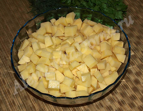 как приготовить картошку с мясом как в детском саду