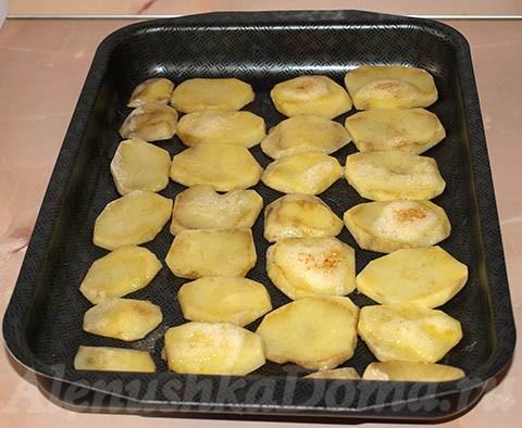 Запеченный картофель для запеканки
