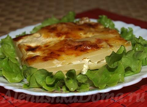 Картошка с сыром в духовке. Готовое блюдо.