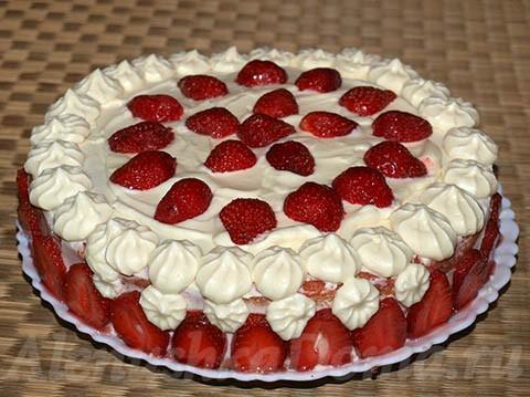 Домашние торты клубникой рецепты фото