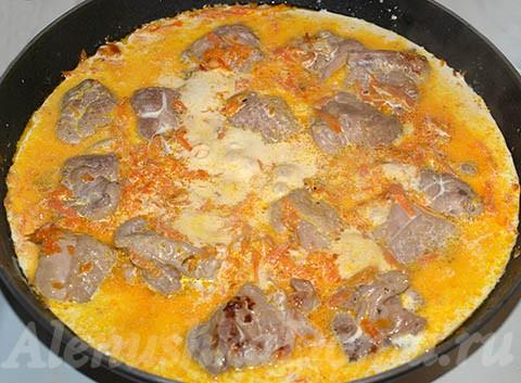 Филе курицы на сковороде в сливочном соусе